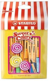 Pastakas Stabilo Point 88 Mini Sweet, mitmevärviline, 15 tk