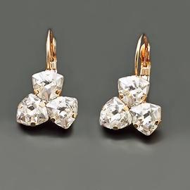 Diamond Sky Earrings With Crystals From Swarowski Bermuda Triangle III