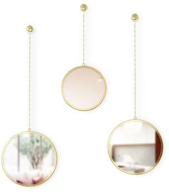Umbra Dima Round Mirror Brass