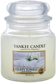 Ароматическая свеча Yankee Candle Classic Medium Jar Fluffy Towels, 411 г