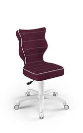 Детский стул Entelo Petit VS07, белый/фиолетовый, 335x300x775 мм