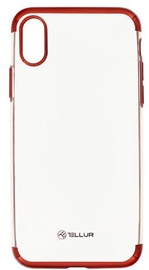 Tellur Electroplated Back Case For Apple iPhone X/XS Red
