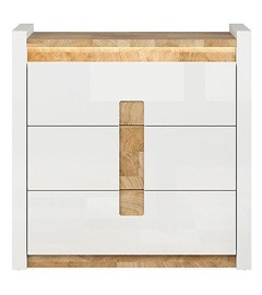 Black Red White Alameda Drawer 41x97x96.5cm White Oak