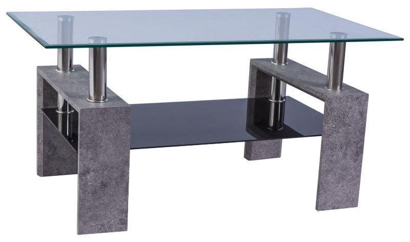 Kafijas galdiņš Signal Meble Modern Lisa II Grey Stone, 1100x600x550 mm