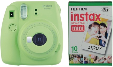Fujifilm Instax Mini 9 Lime Green + Instax Mini Glossy