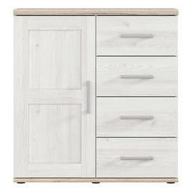 Black Red White Romance Chest Of Drawers 45x99x93cm White