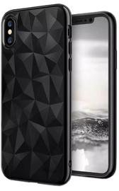 Blun 3D Prism Shape Back Case For Samsung Galaxy J7 J730 Black