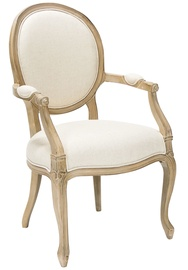 Home4you Chair Elizabeth With Armrests Beige 69604