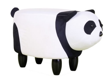 Пуф Signal Meble Panda Paulinka White/Black, 62x33x33.5 см