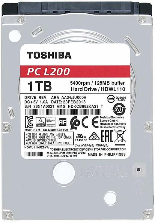 "Toshiba L200 1TB 2.5"" SATAIII HDWL110EZSTA"