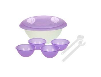 Salotų dubenėlių ir įrankių rinkinys Keeeper, 5 vnt