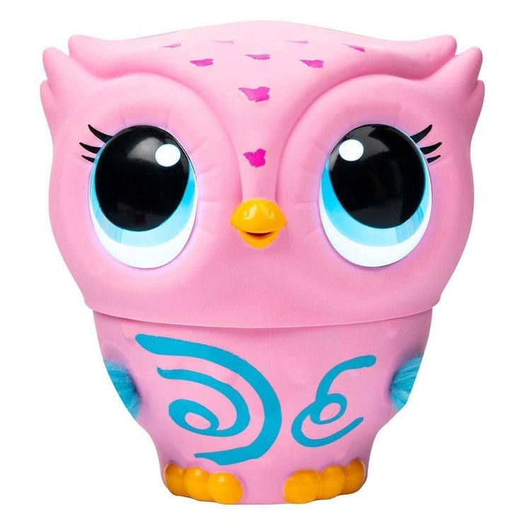 Spin Master Owleez Flying Baby Owl Interactive Toy With Lights And Sounds Pink