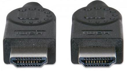 Manhattan Monitor Cable HDMI to HDMI, juoda, 2 m