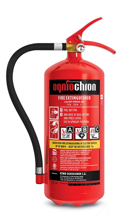 Огнетушитель Ogniochron GP-6X ABC Fire Extinguisher 6kg