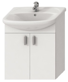 Vonios spintelė Jika Lyra Plus H451961 With Sink White