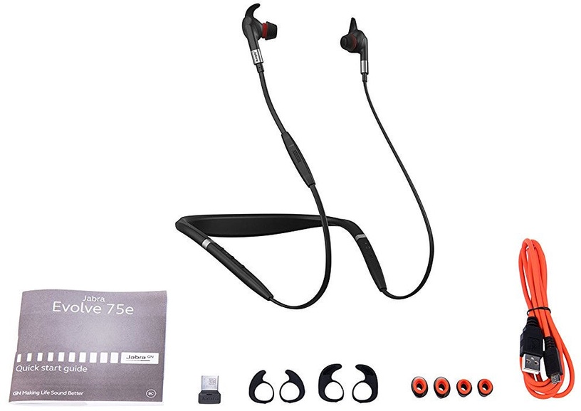 Ausinės Jabra Evolve 75e Wireless Earbuds