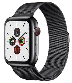 Išmanusis laikrodis Apple Watch Series 5 44mm GPS Space Black Stainless Steel Case with Space Black Milanese Loop Cellular