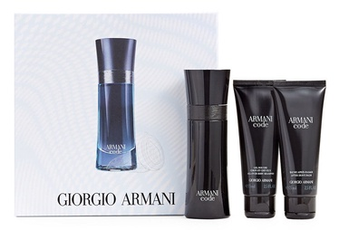Giorgio Armani Black Code 75ml EDT + 75ml After Shave Balm + 75ml Shower Gel