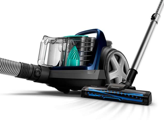 Dulkių siurblys Philips PowerCyclone 7 FC9556/09 Black/Blue