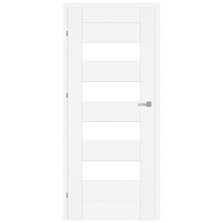 Vidaus durų varčia Lora M3, balta, kairinė, 203.5x84.4 cm