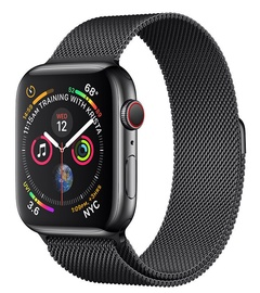 Apple Watch Series 4 40mm Cellular Stainless Steel Space Black/Black Loop