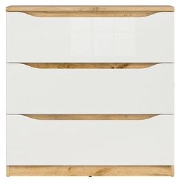Kumode Black Red White Nuis Wotan Oak/White, 90x39.5x91.5 cm