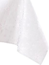Скатерть AmeliaHome White Christmas, серебристый, 1600 мм x 1100 мм