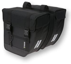 Basil Tour Double Bike Bag Black