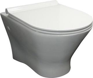 Sienas tualete Roca Nexo, ar vāku, 360x535 mm
