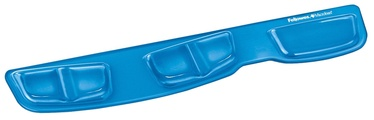 Fellowes Crystal Keyboard Palm Support Blue 9183101