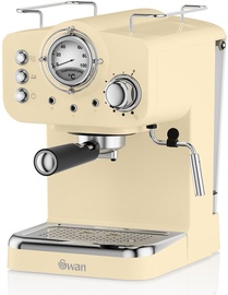 Kohvimasin Swan Retro Pump Espresso Cream