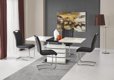 Pusdienu galds Halmar Nord Black/White, 1400 - 1800x800x760 mm