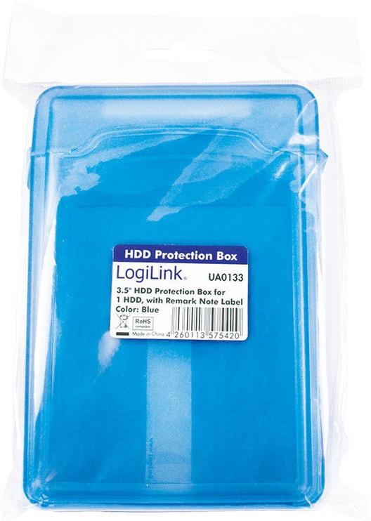 "LogiLink UA0133 3.5"" HDD Protection Box Blue"
