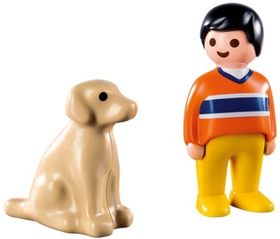 Playmobil 1-2-3 Man With Dog 9256
