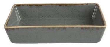 Porland Seasons Serving Plate With Edges 16.5x10.1cm Dark Grey