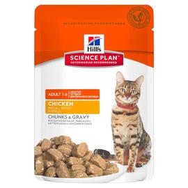 Konservuotas ėdalas katėms Hill's Science Plan Feline Adult Chicken Pouch, su vištiena, 85 g