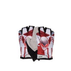 Велосипедные перчатки 620002, белый/черный/oранжевый