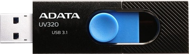 USB atmintinė ADATA UV320 Black, USB 3.1, 128 GB