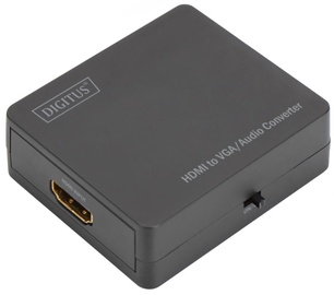 Digitus Adapter HDMI / VGA / Mini Jack Black