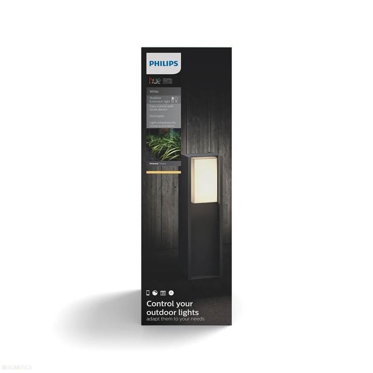 Išmanusis pastatomas lauko šviestuvas Philips LED Hue Turaco, 9.5W, E27, 2700K, 806lm, DIM
