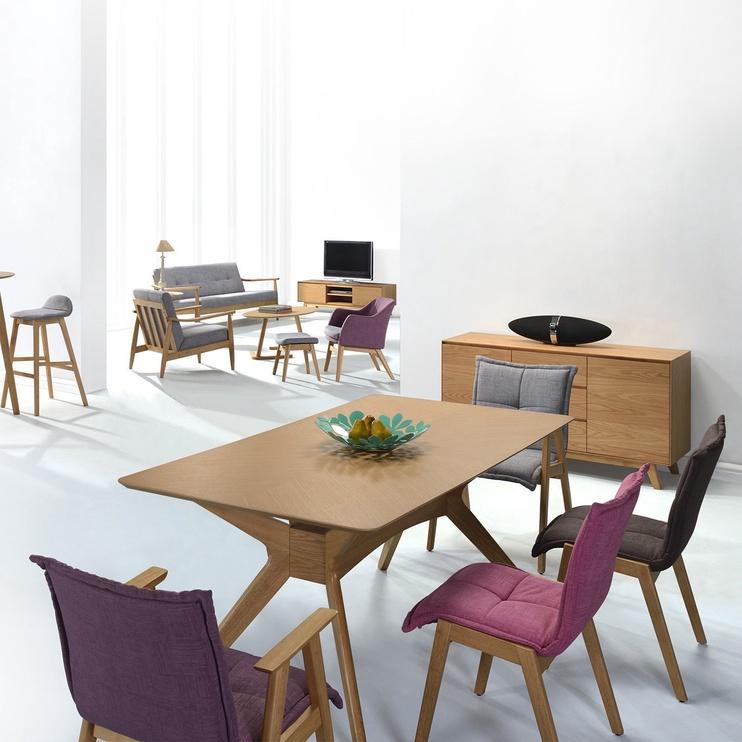 Стул для столовой Home4you Razor Gray, 2 шт.
