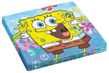 Popierinės servetėlės Spongebob, 32.7 x 32.7 cm, 20 vnt