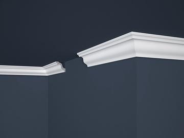 Lubų apdailos juostelės E-5, balta, 200 x 4.5 cm