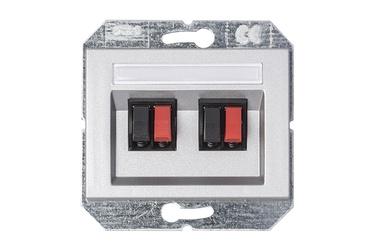 Garsiakalbių pajungimo lizdas Vilma XP500, metalo spalvos