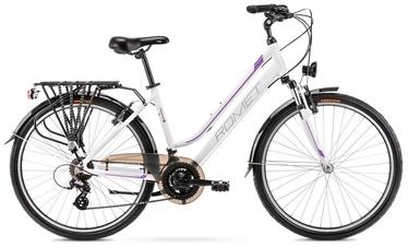 "Dviratis Romet Gazela 1 White/Purple, 19"", 28"""