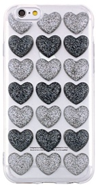 Mocco Trendy Heart Back Case For Apple iPhone 6 Plus/6s Plus Black/Silver
