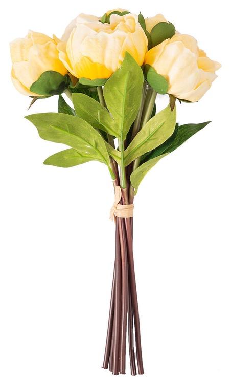 Искусственный цветок Home4you In Garden Peony Bunch Artificial Flower H30cm Yellow