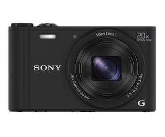 Fotoaparatas Sony DSC-WX350B, juodas