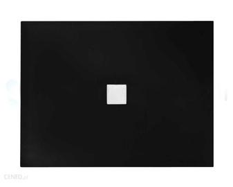 Dušo padėklas, stačiakampis, juodas NOX ULTRASLIM,100 x 80