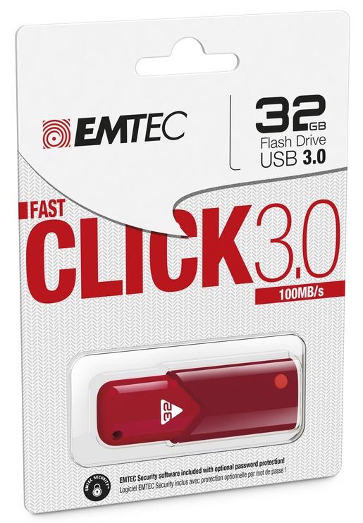 Emtec Click Fast 32GB USB 3.0 Red